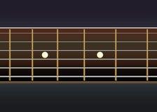 Vector guitar neck Stock Photography
