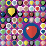 Vector guitar picks Stock Images