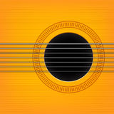 Vector guitar sound hole background. Royalty Free Stock Photography