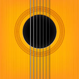 Vector guitar sound hole background. Royalty Free Stock Images