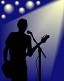 Vector Guitarist silhouette Stock Image