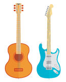 Vector guitars set Royalty Free Stock Photo