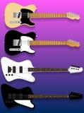 Vector guitars set Royalty Free Stock Image