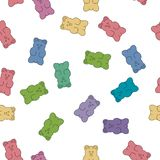 Vector gummy bear candies stock illustration