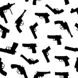 Vector guns set seamless pattern Royalty Free Stock Photos