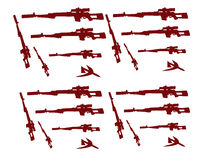 Vector silhouette vector illustration of soldiers guns Svd Royalty Free Stock Photography