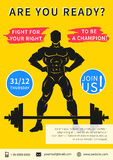 Vector gym competition flyer template Royalty Free Stock Photography