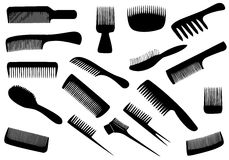 Vector hairdresser tools isolated Stock Image