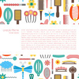 Vector hairpins background Royalty Free Stock Image