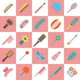 Vector hairpins background Stock Photography