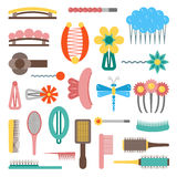Vector hairpins objects Royalty Free Stock Photo