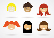 Vector Hairstyles Stock Photography