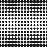 Vector half tone circles pattern. Halftone dots background. Vector half tone circles pattern. Halftone dots abstract monochrome background. Gradient transition Royalty Free Stock Photos