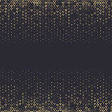 Vector halftone abstract background, black gold gradient gradation. Geometric mosaic triangle shapes monochrome pattern. Simple backdrop design Stock Photo