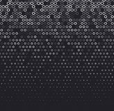 Vector halftone abstract background, black white gradient gradation. Geometric mosaic circle shapes monochrome pattern Royalty Free Stock Photos