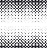 Vector halftone abstract background, black white gradient gradation. Geometric mosaic hexagon shapes monochrome pattern Stock Photo