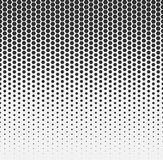 Vector halftone abstract background, black white gradient gradation. Geometric mosaic hexagon shapes monochrome pattern Royalty Free Stock Image