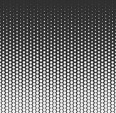 Vector halftone abstract background, black white gradient gradation. Geometric mosaic hexagon shapes monochrome pattern Stock Photos