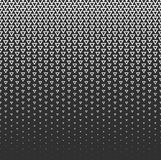Vector halftone abstract background, black white gradient gradation. Geometric mosaic triangle shapes monochrome pattern Royalty Free Stock Photos