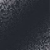 Vector halftone abstract background, black white gradient gradation. Geometric mosaic triangle shapes monochrome pattern Stock Image