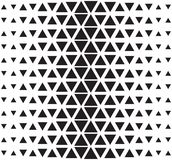 Vector Halftone Abstract Triangular Pattern. Seamless Black And White Triangle Illustration Royalty Free Stock Image