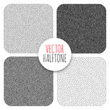 Vector Halftone Background. Halftone Background set. Dotwork Abstract Vector illustration Vintage style Royalty Free Stock Photography