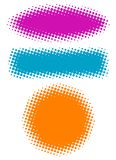 Vector halftone banners. Royalty Free Stock Photo