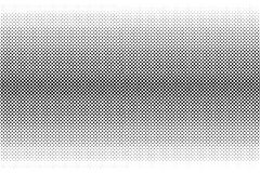 Vector halftone black dots. On white background Stock Images