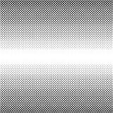 Vector halftone black dots. On white background Stock Photography