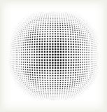 Vector halftone circle Royalty Free Stock Photography