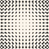 Vector halftone circles seamless pattern. Half tone dots. Stock Photos