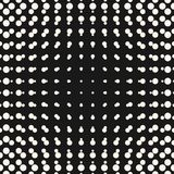 Vector halftone circles seamless pattern. Half tone dots in sphere form. Abstract monochrome background. Round gradient transition effect. Simple modern dotted Royalty Free Stock Photo