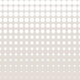 Vector halftone cirkelspatroon in pastelkleuren, beige & wit Royalty-vrije Stock Afbeeldingen
