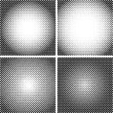 Vector halftone Dot Textures set. A set of 4 halftone frame patterns.  Analog halftone structure. Overlay vector. Vector halftone Dot Textures set. A set of 4 Stock Image