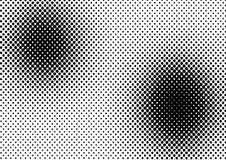 Vector halftone dots. For backgrounds and design Royalty Free Stock Photo