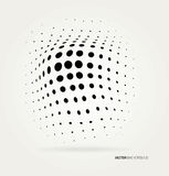 Vector halftone dots Royalty Free Stock Photography