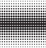 Vector halftone dots. Black dots on white background Stock Photos