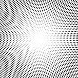 Vector halftone dots. Black dots on white Stock Photos