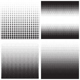 Vector halftone dots. Black dots on white background. Stock Photos