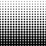 Vector halftone dots. Black dots on white background. Black dots on white background. Halftone black and white pattern. Modern geometric texture. Repeating Royalty Free Stock Images