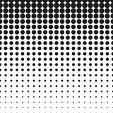 Vector halftone dots. Circle halftone element, monochrome abstract graphic Stock Photography
