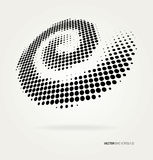 Vector halftone dots. Stock Image