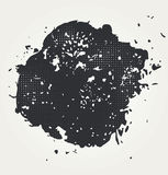 Vector halftone dots. Royalty Free Stock Photos