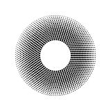 Vector halftone dots pattern. Design element with halftone effect. Isolated on white background. Halftone dots pattern. Design element with halftone effect Royalty Free Stock Photo