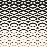 Vector halftone hipster pattern with diamond shapes, rhombuses Royalty Free Stock Photography