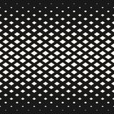 Vector halftone geometric pattern with rhombuses, diamond shapes. Vector halftone geometric seamless pattern with rhombuses, diamond shapes, grid, mesh texture Stock Images