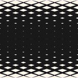 Vector halftone geometric seamless pattern with crystals, rhombuses, diamond shapes. Abstract monochrome background with gradient transition effect. Modern royalty free illustration