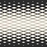 Vector halftone geometrisch naadloos patroon met diagonaal net, netwerk, rooster Royalty-vrije Stock Foto's