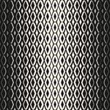 Vector halftone geometrisch naadloos patroon met diamantvormen Halftone netwerk, net, visnet Royalty-vrije Stock Afbeeldingen
