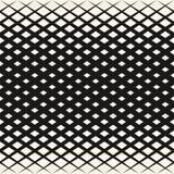Vector halftone geometrisch patroon met ruiten, diamantvormen, diagonaal net Stock Afbeeldingen